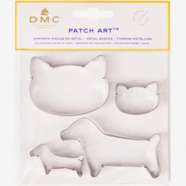 Moldes de metal Perro y Gato - Patch Art - DMC