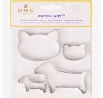 Moldes de metal Perro y Gato - Patch Art - DMC