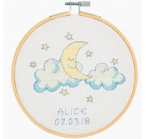 Kit de Punto de Cruz - Baby Moon - DMC
