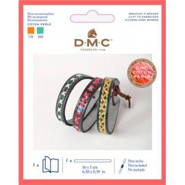 Kit Pulsera Fina Simil Cuero para Bordar - DMC