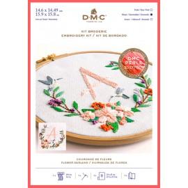 Kit de Bordado Guirnalda de Flores - DMC