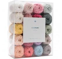 Pack de 20 ovillos colores Pastel Ricorumi - Rico Design