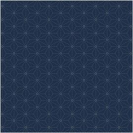 Tela para Sashiko Dark Blue Stars - Rico Design