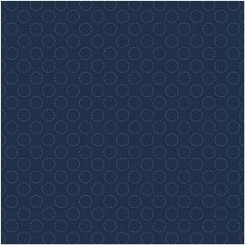 Tela para Seshiko Dark Blue Circles - Rico Design