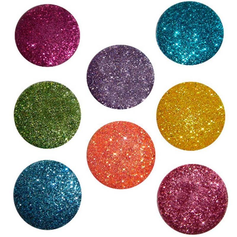 Big Glitter Dots Brights buttons – Dress It Up