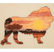 Kit Punto de Cruz - Lion Silhouette - Anchor Maia Collection