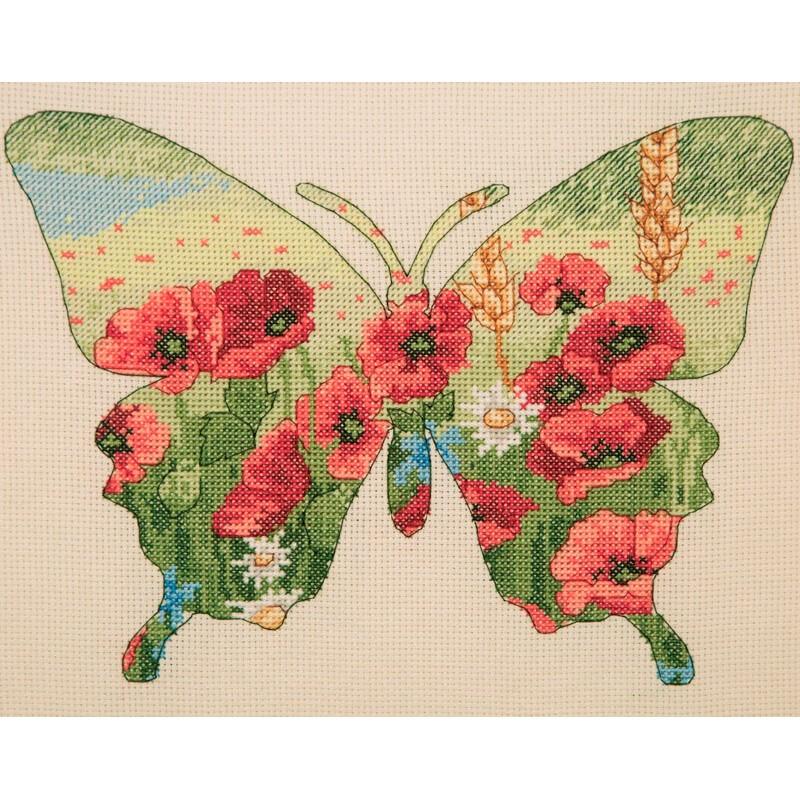 Kit Punto de Cruz - Butterfly Silhouette - Anchor Maia Collection