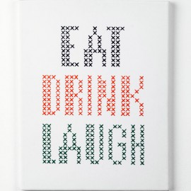 Kit de Bordado - Eat Drink & Laugh  - Anchor