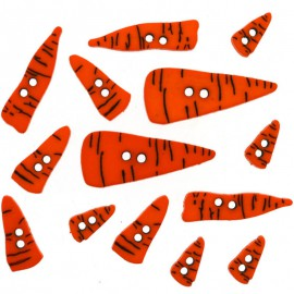 Botones Carrot Noses - Dress It Up