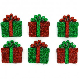 Botones Small Glitter Presents - Dress It Up