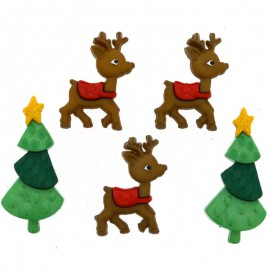 Botones Reindeer Games - Dress It Up
