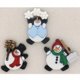 Botones Roly Poly Snowman - Dress It Up