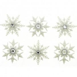 Botones Fancy Snowflakes - Dress It Up