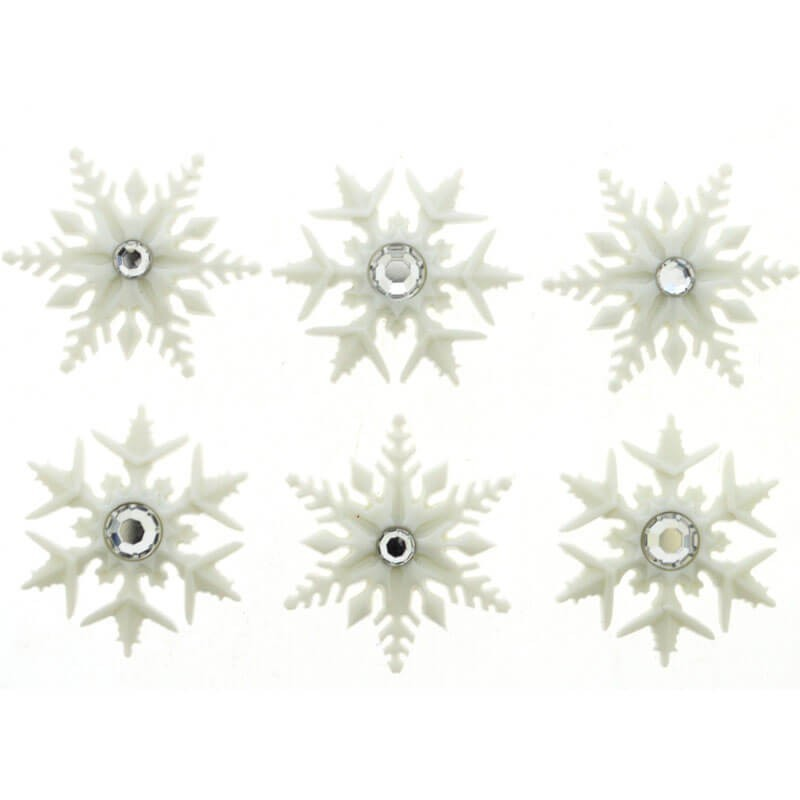 Botones Fancy Snowflakes - Dress It Up