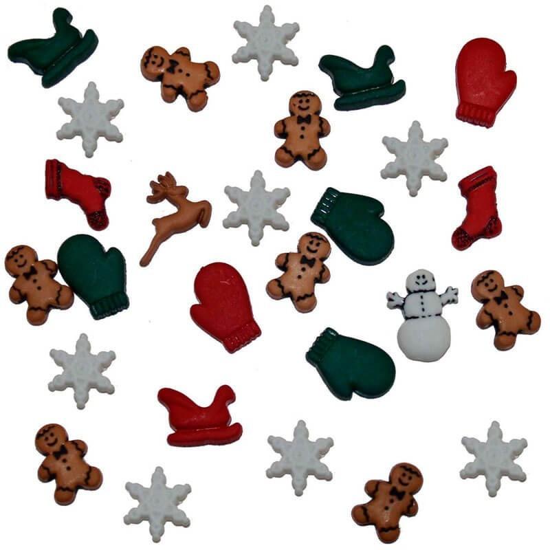 Botones Christmas Miniatures - Dress It Up