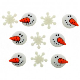 Botones Snowman Faces - Dress It Up