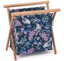 Folding Knitting Basket - Floral Birds (Big)
