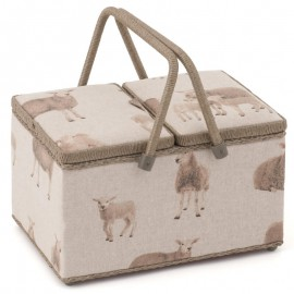 Costurero Doble Tapa - Linen Sheep