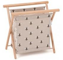 Folding Knitting Basket - Linen Bee