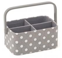 Sewing Basket - Grey Spot