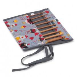 Set de Ganchillos con Estuche de Tela - Chiken Stitch