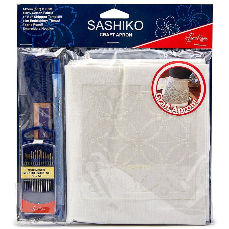 Kit para Delantal Sashiko - Sew Easy