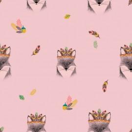 Tela Popelin Katia - Main Fox Pink