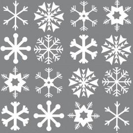 Tela de Felpa Katia - Xmas Snowflakes