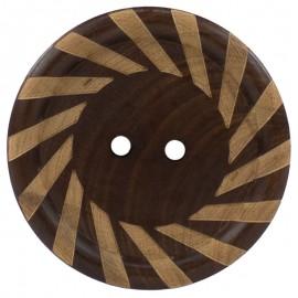 Botón de Madera Espiral