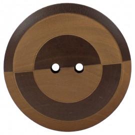 Botón de Madera Bicolor