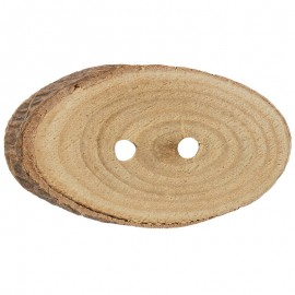 Botón Tronco de Madera de Pino Ovalado