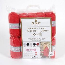 Pack de 10 Ovillos Kinitty 4 para 1 Jersey + Patron - DMC