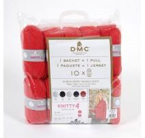 Pack de 10 Ovillos Knitty 4 para 1 Jersey + Patrón - DMC