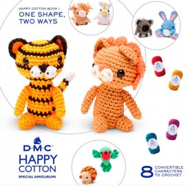 Patron DMC Happy Cotton 1 - Una Forma, Dos Animales