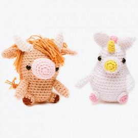Patron DMC Happy Cotton 1 - Una Forma, Dos Animales