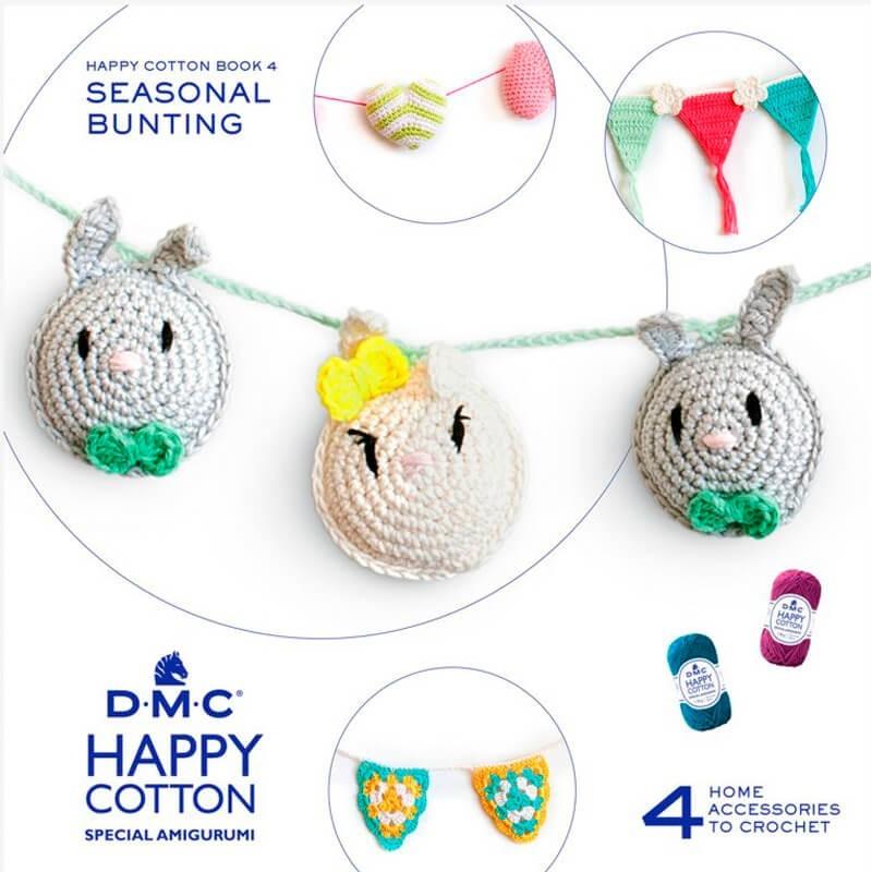 Patron DMC Happy Cotton 4  - Guirnaldas Estacionales
