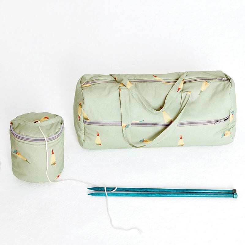 Patron Katia - Bolsa + mini bolsa portaovillos