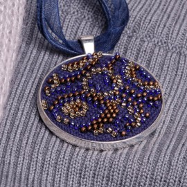 Kit de Micro Bordado Collar - Blues