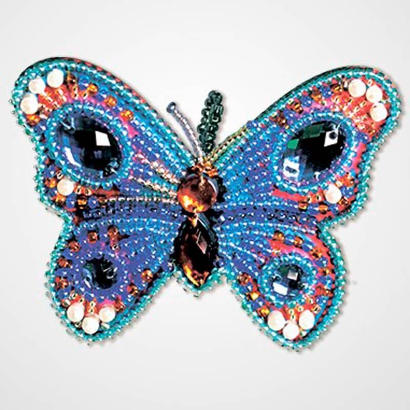 Kit de Bordado con Cuentas Colgante - Blue Butterfly