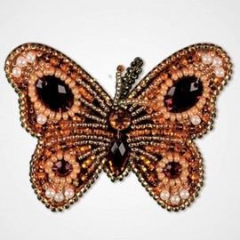 Kit de Bordado con Cuentas Colgante - Golden Butterfly
