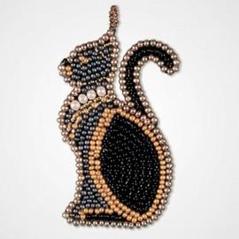 Kit de Bordado con Cuentas Colgante - Lady Cat
