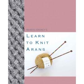 Revista Rowan Learn To Knit Arans - Martin Storey s