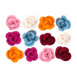 Rosas de Fieltro (12 Uds.)