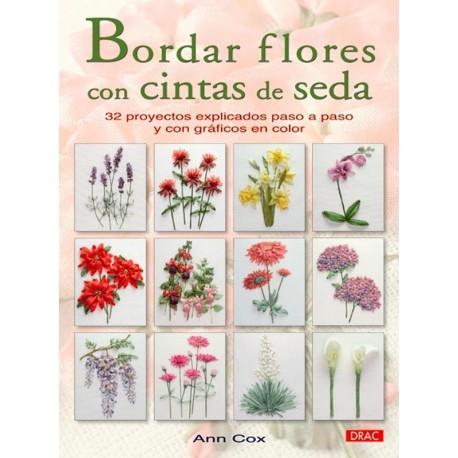 Bordar flores con cintas de seda