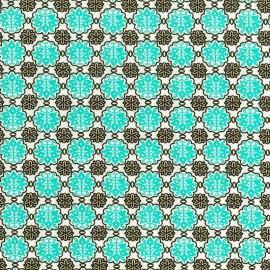 Mosaico Flores Turquesa