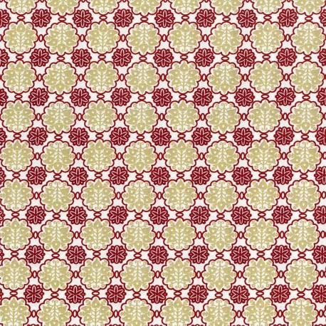 Flores - Roja y Beige