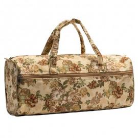 Knitting bag – Brown Flowers