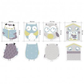 Panel de Tela Jersey Katia - Owl Panel