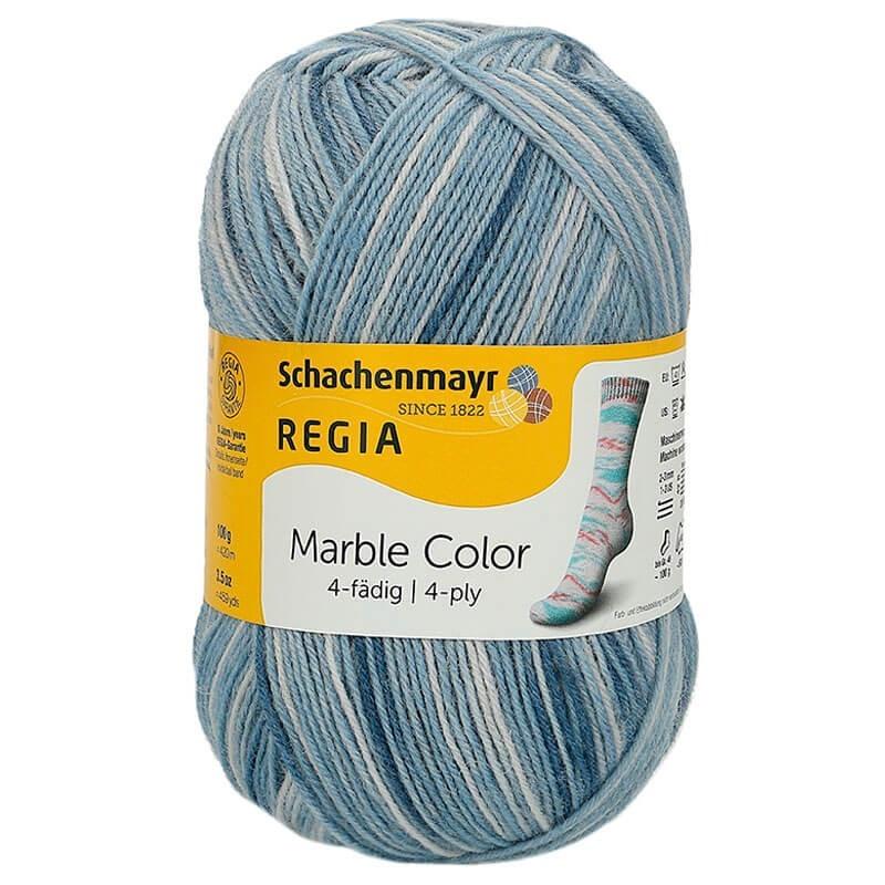 Regia calcetines lana lana Schachenmayr 4 fädig azul o de bambú nuevo por cada 100 gramos