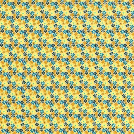 Flores - Azul y Amarillo